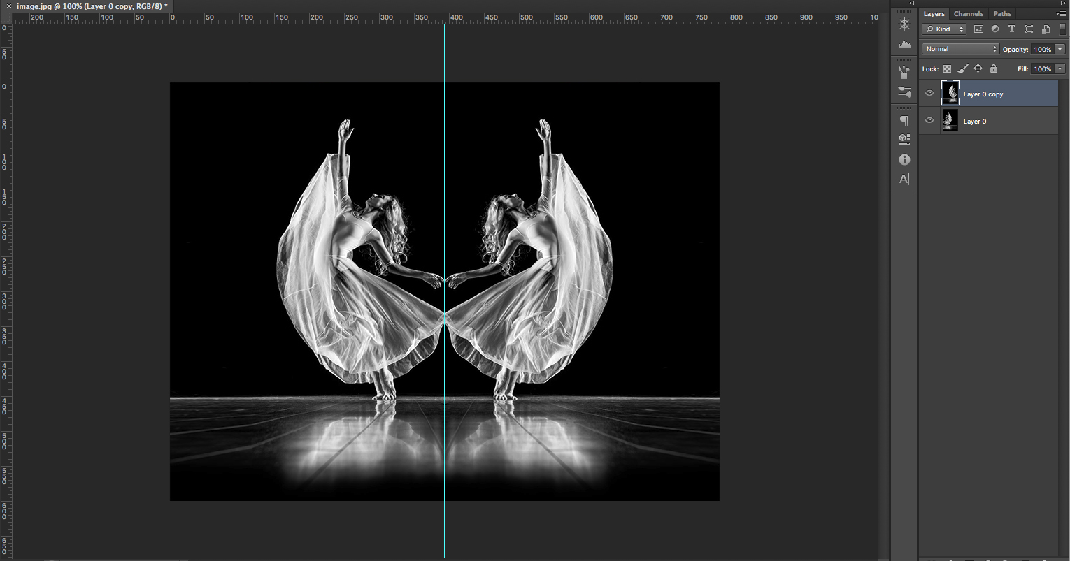 How to make a mirror image in Photoshop